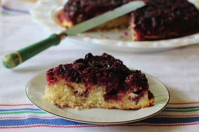 Triple Berry Upside Down Cake #berry #upside #down #cake #southernfood