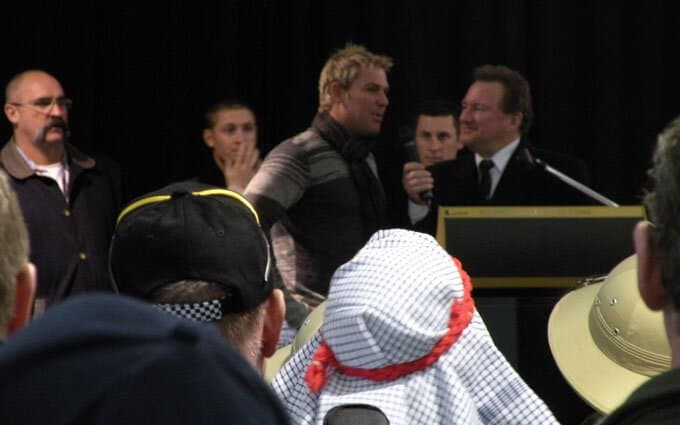 Shane Warne's speech at the Bash opening.