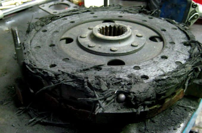 Damage to the clutch from not engaging it properly.