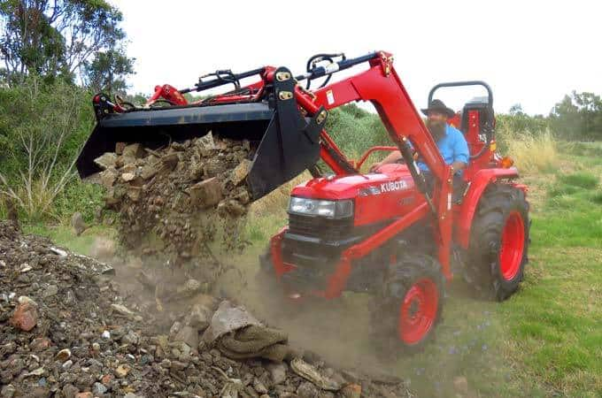The Kubota L4508DT has a safe working load of 420kg.