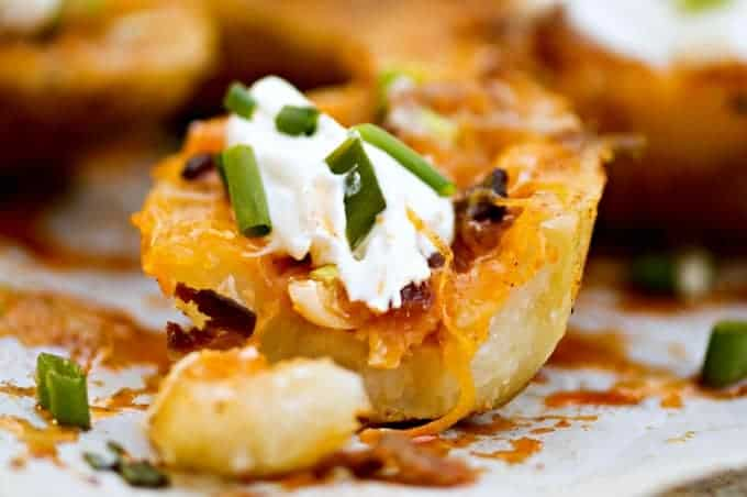 Homemade Stuffed Potato Skins Recipe - These are so good