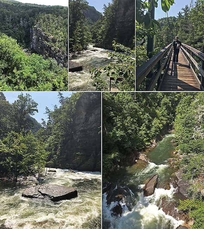 Spectacular views from Tallulah Gorge Trail Hike