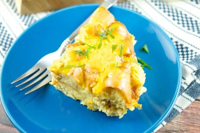Slow-Cooker-Cheesy-Bacon-Strata-recipe- Your easy answer to how to make mother's day breakfast in bed!