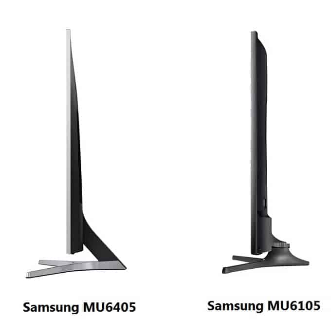 Diseño Samsung MU6405 vs. MU6105