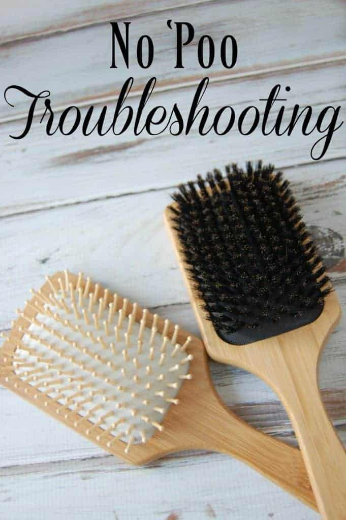 "Have you tired going ""no 'poo"" but you've got a few issues? Check out this no 'poo troubleshooting post! #nopoo #haircare #natural"