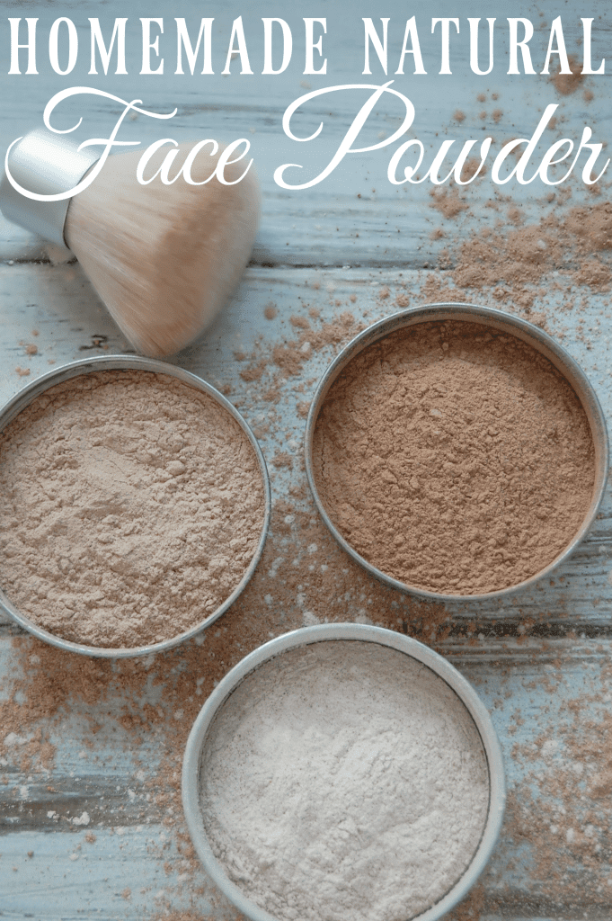 Homemade Natural Face Powder - Just three ingredients and suddenly you've made your own face powder for practically pennies! #diybeauty #homemademakeup #facepowder #greenbeauty
