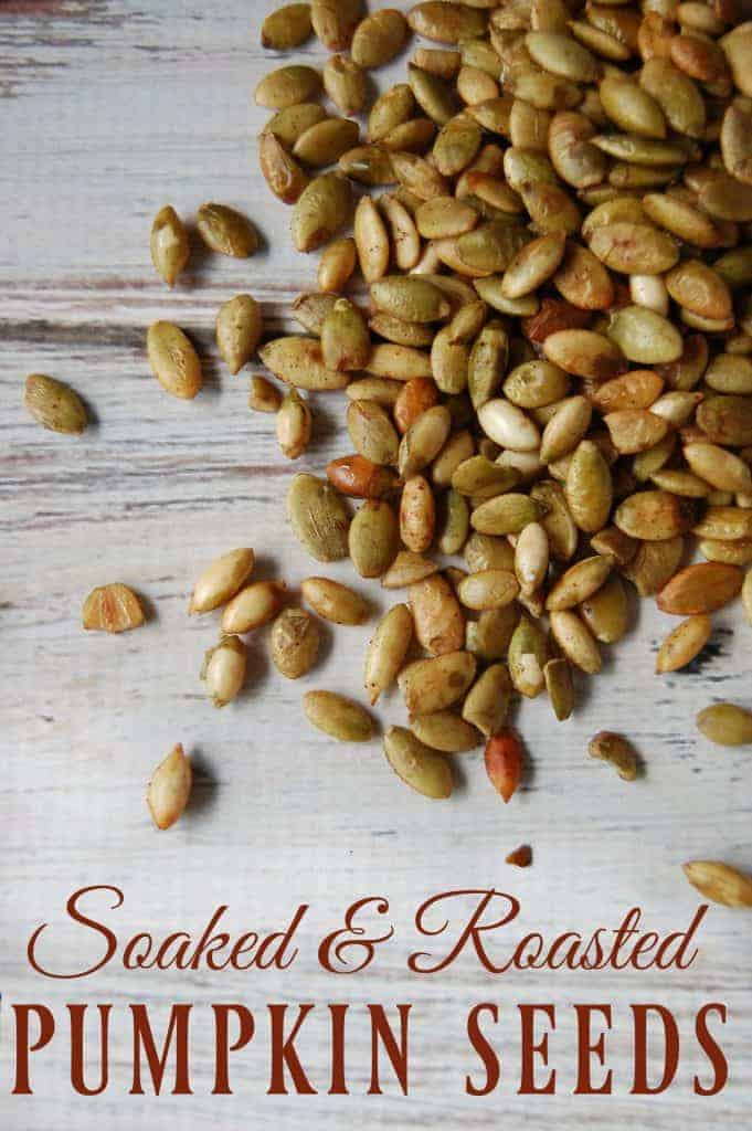 Learn how to make these Soaked and Roasted Pumpkin Seeds! You'll learn the method to help make the pumpkin seed nutrients more available to your body and you can make them in so many variations! #pumpkinseeds #pumpkin #snacks #healthy #soaked #roasted