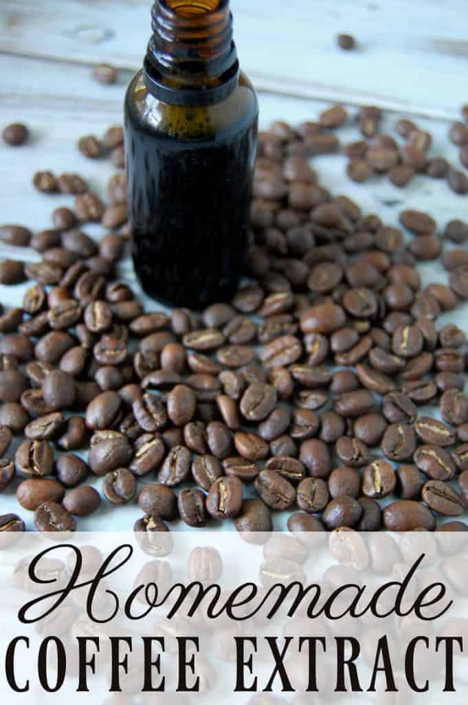 When it comes to coffee ice cream, frappuccinos, or baked goods homemade coffee extract is a very useful ingredient! #coffee #extract #homemade #natural #DIY