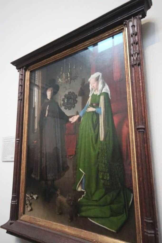 The Arnolfini Portrait, 1434, art by Jan van Eyck art