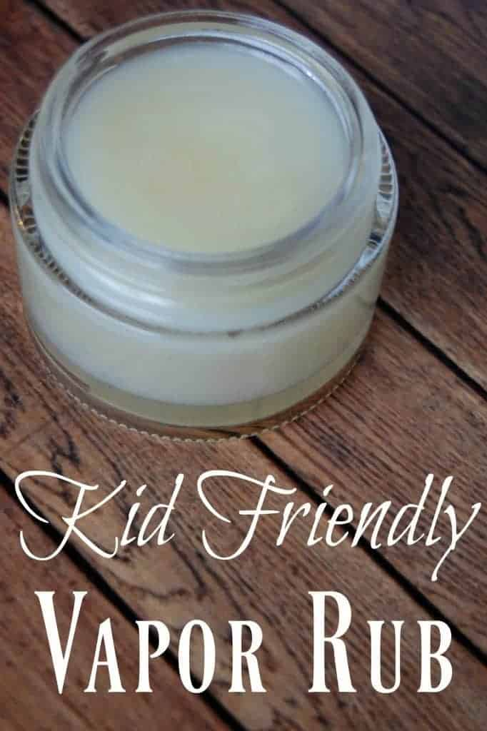 This kid friendly vapor rub will help your child breathe easier without the harmful ingredients that other vapor rubs contain. #kidsafe #kidfriendlly #vaporrub #decongestant #colds #coughremedy #kids