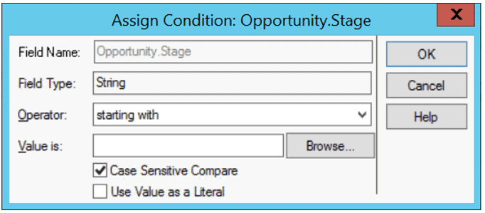 Infor CRM Query Condition