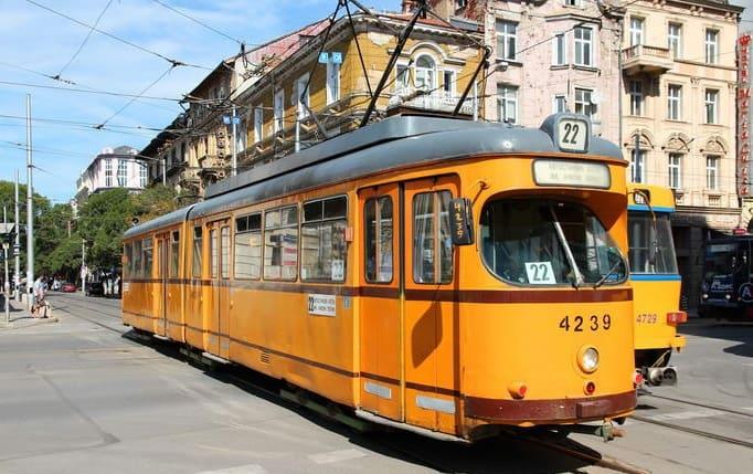 Tranvía en Sofía (Bulgaria).