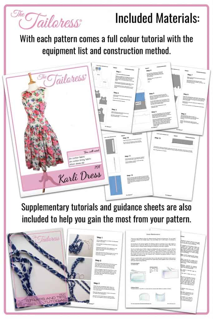 The Tailoress PDF Sewing Patterns - Penelope Plunge Neck Dress PDF Sewing Pattern