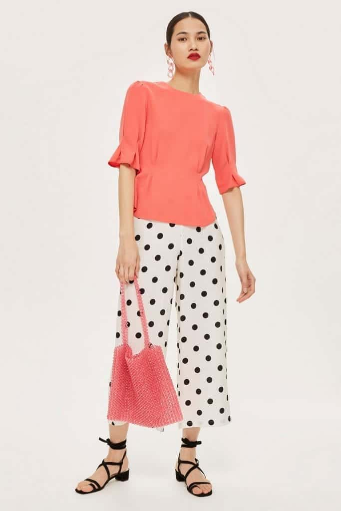 Puff Sleeve Tuck Top - TopShop | Living Coral Trends | OPAS Blog