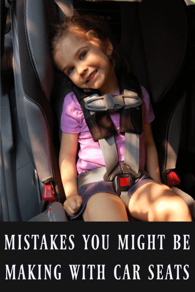 Check out these mistakes you might be making with car seats to know if your child is safe in their car seat! Learn where clips and straps should be, when kids need to change seats, what makes car seats unsafe, and more! #carseats #carseat #babies #kids #carsafety
