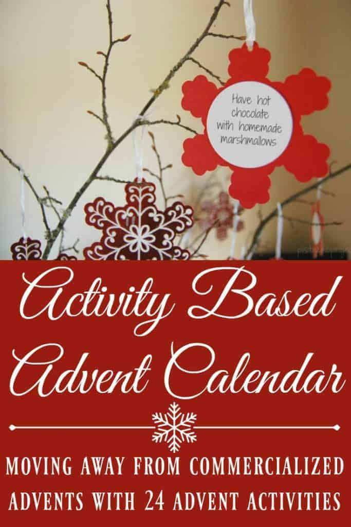 """This Activity Based Advent Calendar will help you celebrate Christmas with your kids with more bonding time and less """"stuff"""". #christmas #advent #adventcalendar #holidays #holidayactivites"""