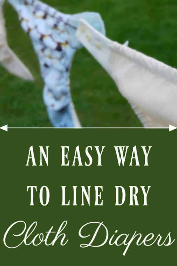 Easy Way to Line Dry Cloth Diapers