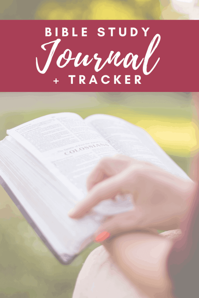 This free Bible study journal and tracker is a perfect tool to help create a meaningful quiet time for the busy mom and side-hustle woman. #alittlerandr #biblestudy #journal #tracker #bible #busymom #sidehustle