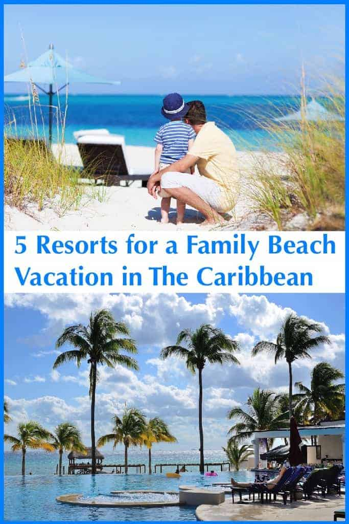 The beach resorts on 4 caribbean islands and the riviera maya might not seem family friendly at first glance but they have plenty of amenities that parents and kids crave like big pools, kids clubs and good onsite restaurants. Check them out for your next winter beach vacation. #caribbean #resorts #kids