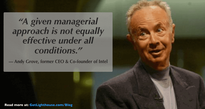 managers must become coaches which means being like andy grove