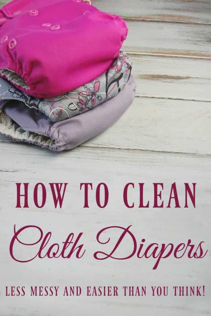 Washing diapers is not some time consuming task, nor a dirty one. It really is not an extra effort at all; you just need to find the routine that works best for you. Learn how to clean cloth diapers! #clothdiapers #washing #laundry #diapers #ecobaby #greenbaby