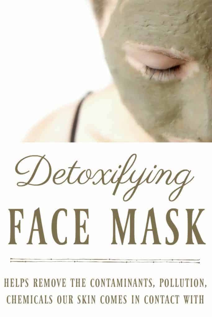 Your skin comes in contact with many contaminants, pollution, chemicals and we need to help our bodies recover. One great way to help your body detox is with this detoxifying face mask. #facemask #detox #detoxifying #naturalskincare #bentonite #greenbeauty
