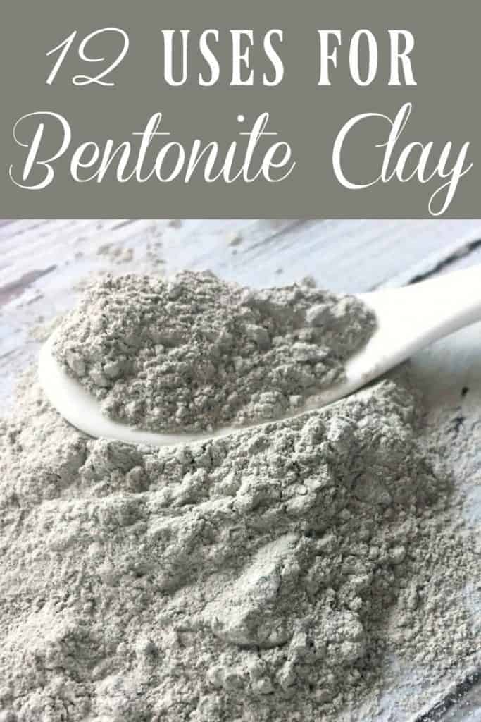Bentonite Clay is one of the most popular clays out there and for good reason! It can do a lot! It's known as a healing clay and it can be used for much more than just a nice face mask. Here are 12 uses for bentonite clay! #bentonite #bentoniteclay #clay #healingclay #detox #natural