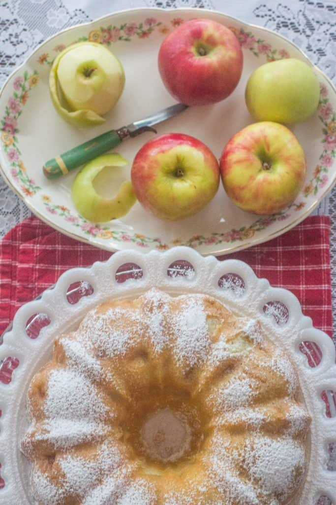 Fresh Apple Sour Cream Pound Cake. The best of fresh apple cake and sour cream pound cake together in one outstanding dessert.