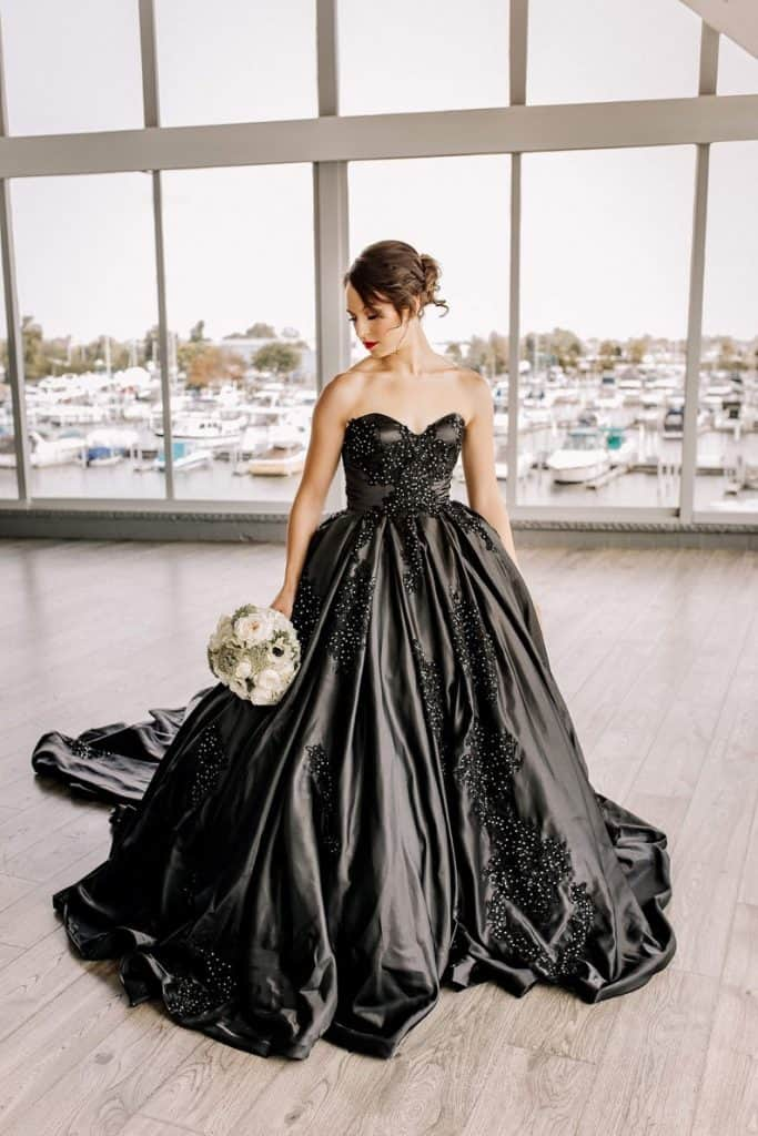 Looking For a Black Wedding Dress This [current_date format='F']? Try These.
