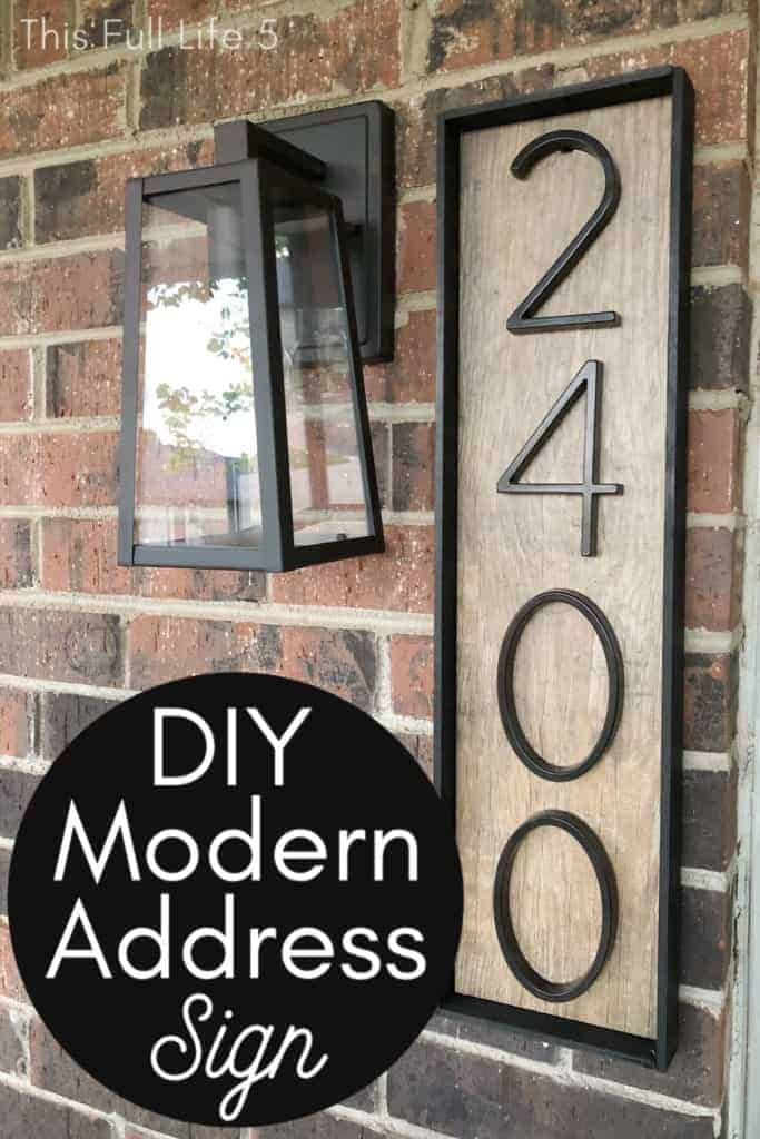 DIY Modern Address Sign