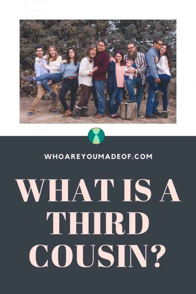 "An image designed for sharing on Pinterest describing the content of this article which is ""What is a Third Cousin"""