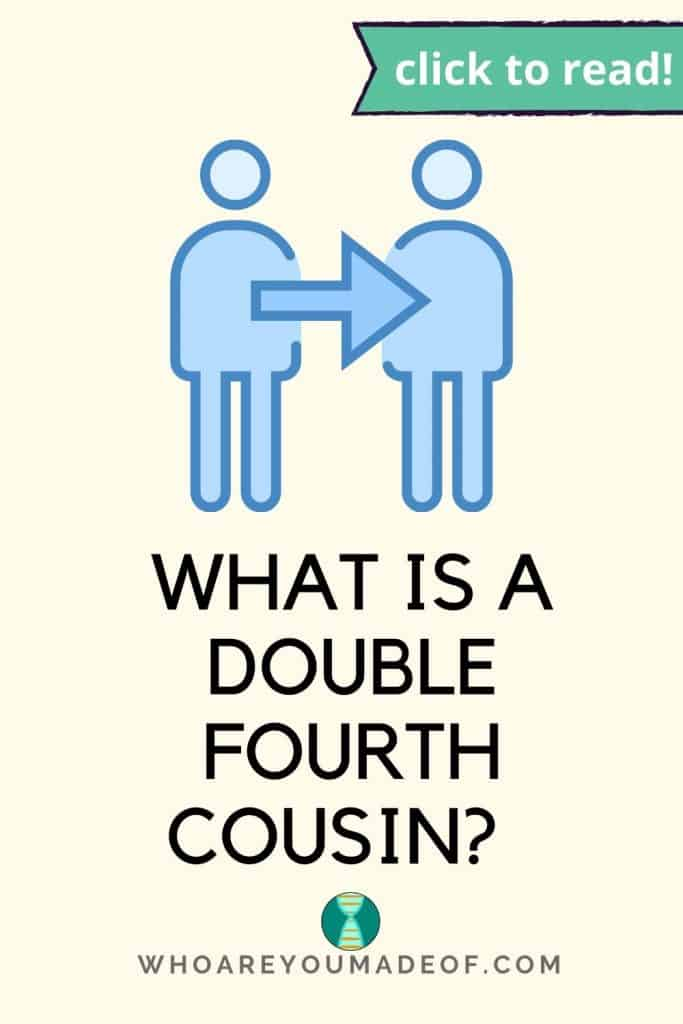 What is a double fourth cousin Pinterest image with a graphic of two people