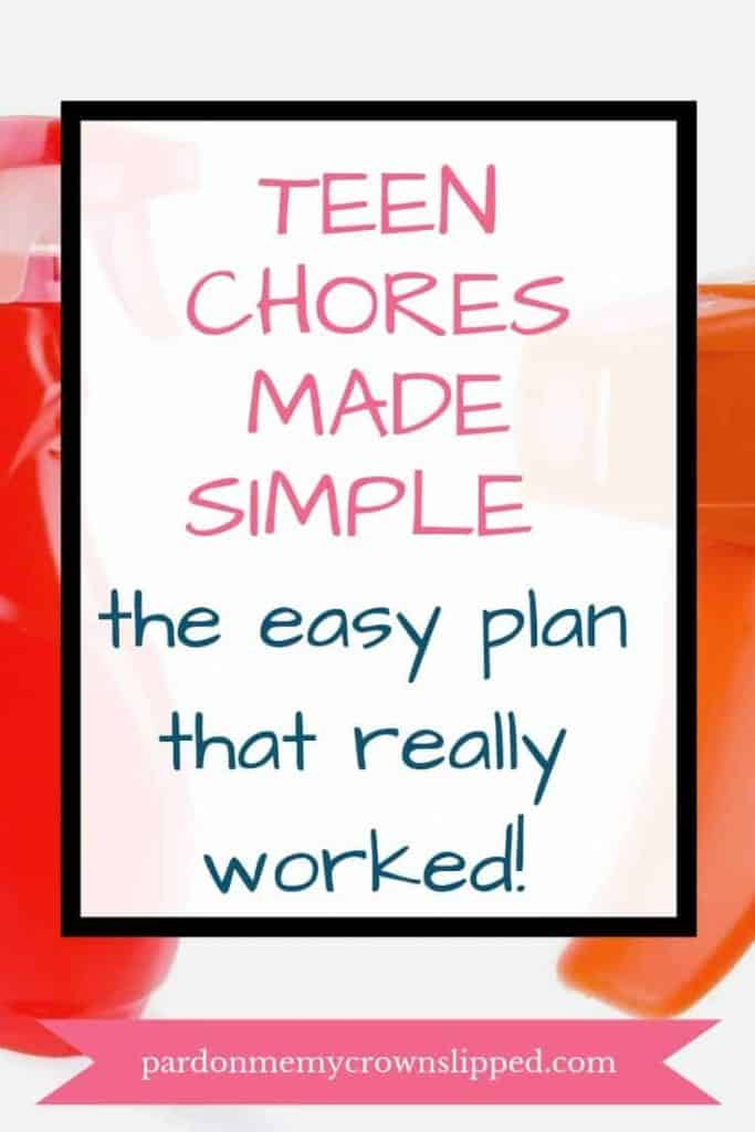 spray bottle with text overlay teen chores made simple the easy plan that really worked