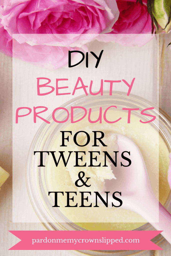 Does your tween or teen love DIY crafts and beauty?  Find the best DIY beauty product crafts for tweens and teens here.  #diybeautyproductsCheck out this post filled with ideas for scrubs, soaps, lip balms and bath salts.  #crafts#diycrafts #diy #diyfortweens #diyforteens #tweencraftideas #scrubs #lipbalm #bathsalts #bathbombs #beauty