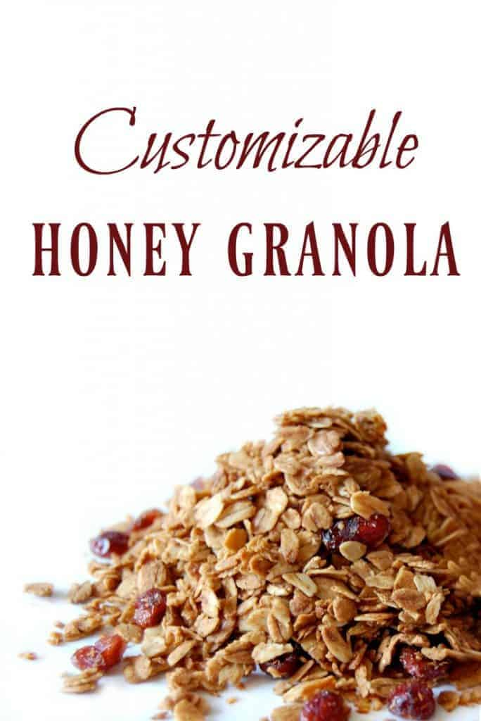 Granola might be perceived as healthy but often times it's full of unhealthy ingredients! This customizable honey granola has all the good stuff with none of the bad stuff! #granola #customizable #homemade #healthy