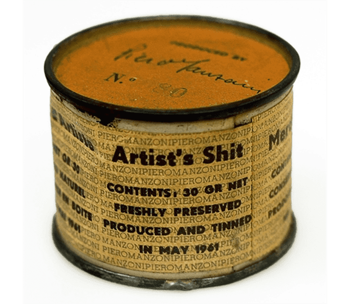 No.80, in a series of ninety cans of Manzoni's 'Artist's Shit'