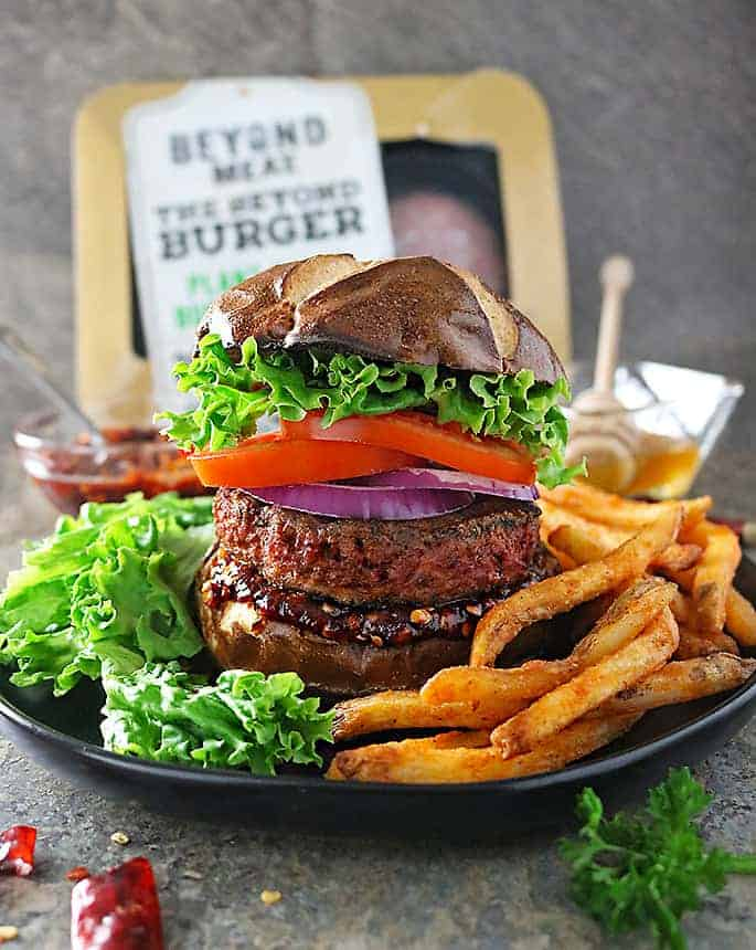 Juicy Beyond Burgers with Sweet Chili Sauce