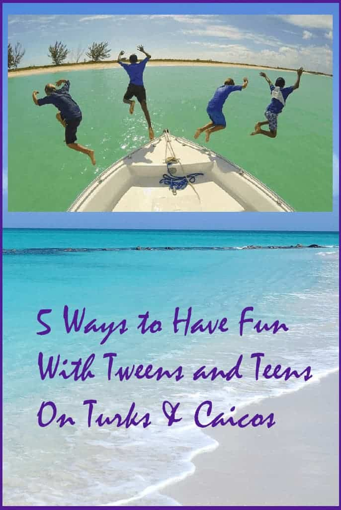 If you're taking a turks and caicos vacation with tweens or teens get out of your resort and try some of these fun things to do in providenciales, around grace bay and beyond. #tci #vacation #teens