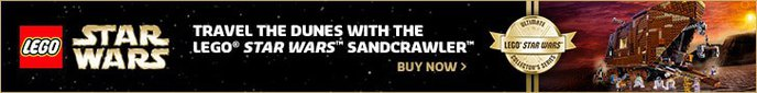 Travel the dunes with the LEGO� Star Wars™ Ultimate Collector Series Sancrawler™