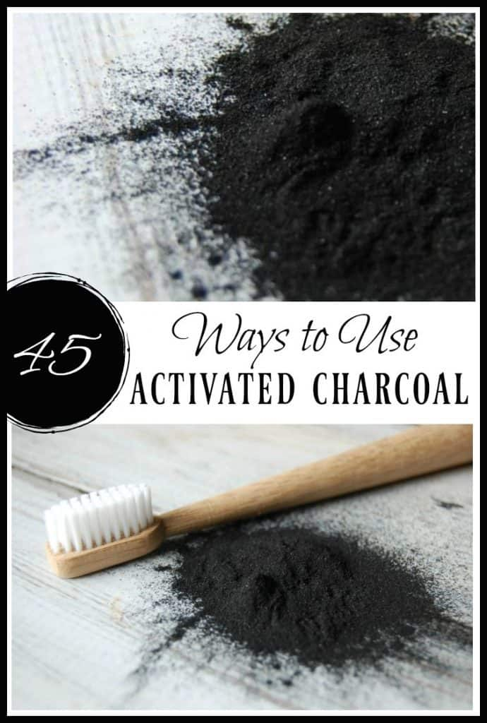 Looking for more ways to use activated charcoal? There are so many ways to use activated charcoal. Learn these 45 ways to use it in skincare, remedies, the home, and even food! #activatedcharcoal #charcoalfacemask #charcoalremedies #naturalremedies #greenbeauty