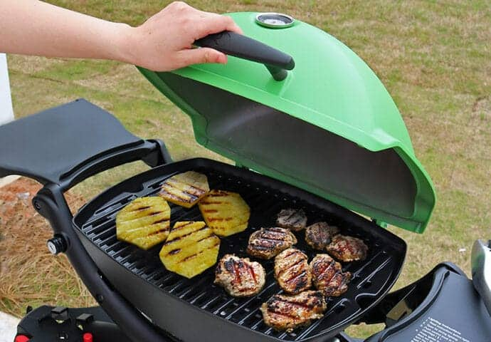 Grilling Pineapple and Pork