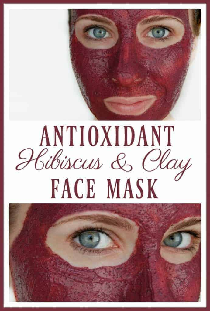 """Did you know that hibiscus is called the """"botox plant""""? Hydrate, exfoliate, revive, and strengthen your skin with this antioxidant hibiscus and clay face mask! #facemask #hibiscus #greenbeauty #diyskincare"""