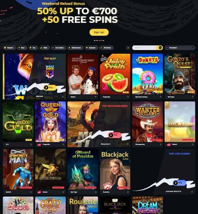 Boomerang 50 free spins no deposit