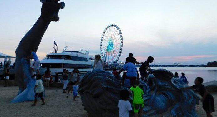 National harbor has great views and lots of family activities