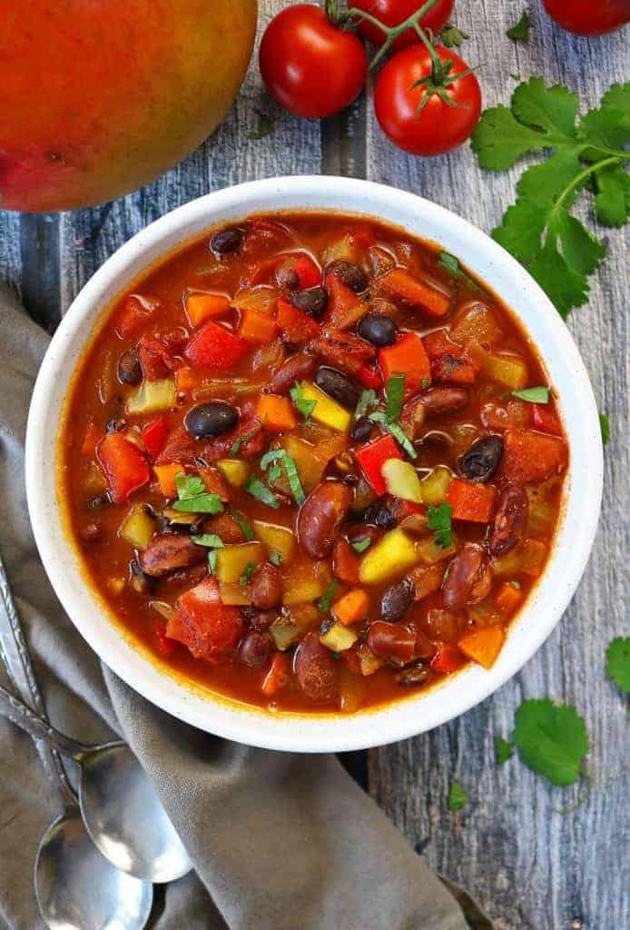 Easy Vegetarian Mango Chili