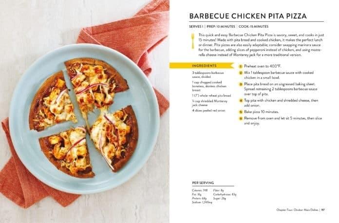 Barbecue Chicken Pita Pizza Recipe