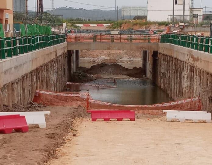 Estado de las obras del Paso Subterráneo de la antigua Hytasa