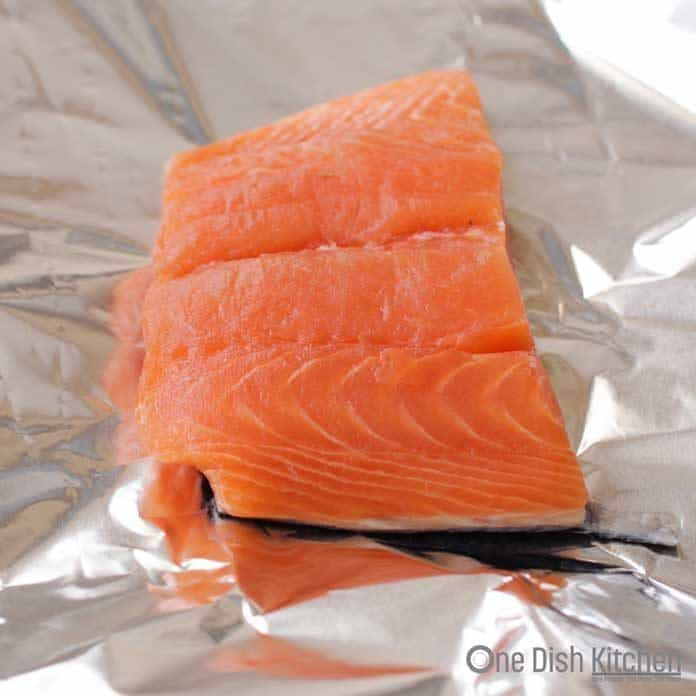 salmon on a piece of foil