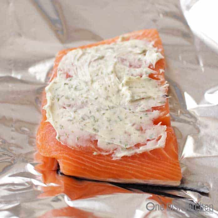 butter on raw salmon