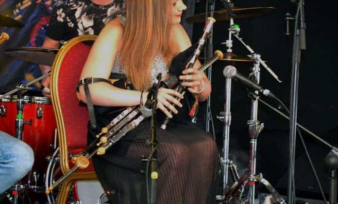 Tara Howley and Friends at The Doolin Folk Festival 2016 with Tara playing the Uilleann Pipes - The Irish Place